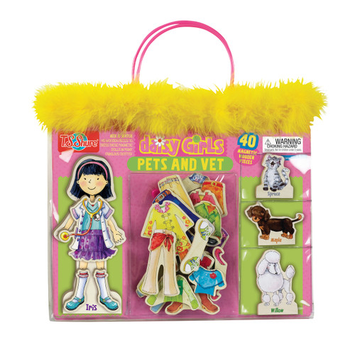 Daisy Girls Pets & Vet Wooden Magnetic Dress-Up Dolls | T.S. Shure