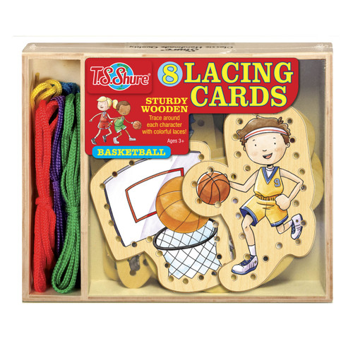 Basketball Wooden Lacing Cards | T.S. Shure