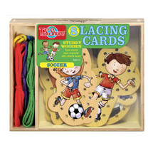 Soccer Wooden Lacing Cards | T.S. Shure