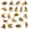 Cowboys & Rodeo Wooden MagnaFun Magnets | T.S. Shure
