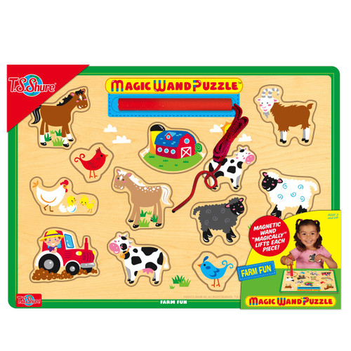 Farm Fun Magic Wand Wooden Magnetic Puzzle | T.S. Shure