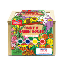 Wooden Paint-A-Green House Creativity Kit