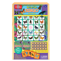 Butterfly Bingo Travel Game in a Wood Box