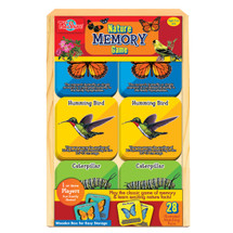 Nature Memory Travel Game in a Wood Box