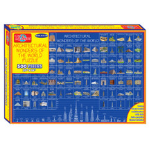 Schematics of The World Architecture Puzzle (500-Pieces)