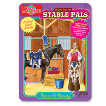 Stable Pals: Becca & Beauty Dress-Ups Magnetic Tin Playset