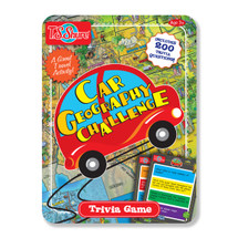 Car Geography Challenge Trivia Game Tin
