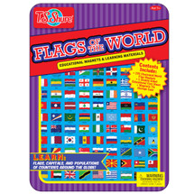 Flags Of The World Magnetic Tin Playset