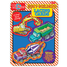 Busy Builders Lacing Cards Activity Tin