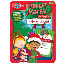 Holiday Laughs Funny Jokes Tin