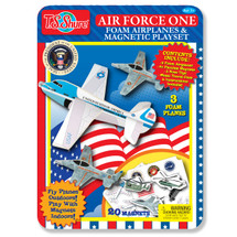 Air Force One Foam Planes and Magnetic Activity Tin