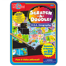 Scratch-A-Doodle USA Learning Tin
