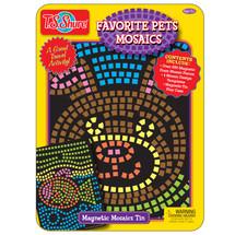 Favorite Pets Mosaics Magnetic Creativity Tin | T.S. Shure