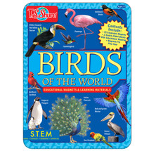 Birds of the World Educational Magnets Tin