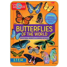 Butterflies of the World Educational Magnets Tin