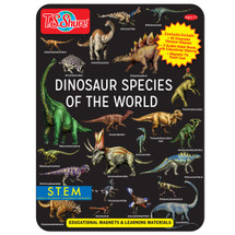 Dinosaur Species of the World Educational Magnets Tin