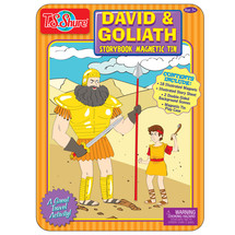 David and Goliath Magnetic Tin Playset