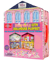 Daisy Girls City Dollhouse Magnetic Tin Playset