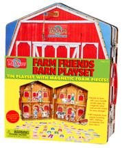 Farm Friends Barn Magnetic Tin Playset