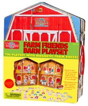 Farm Friends Barn Magnetic Tin Playset