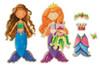 Daisy Girls Mermaids Wooden Magnetic Dress-Up Dolls | T.S. Shure
