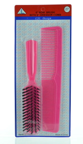Brush - Row Brush with Dresser Comb (Dozen)