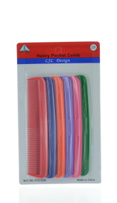 Assorted Heavy Pocket Comb (Dozen)