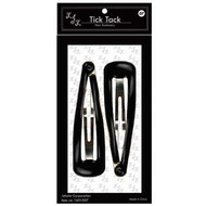 Black XL Hair Snap Clip (Dozen)