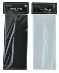Wide Black/White Head Wrap (Dozen)