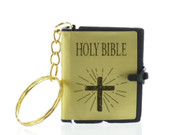 English Bible Keychain Gold (Dozen)
