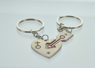 Heart & Arrow Couple Key Chain (Dozen)