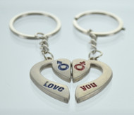 Gender Symbol & Heart Couple Keychain (Dozen)