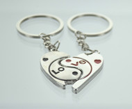 Yin & Yang Heart Couple Keychain (Dozen)