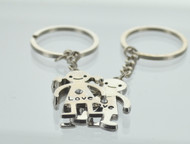 Love Rhinestone Couple Keychain (Dozen)