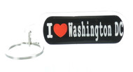 I ♥ Washington DC Black Keychain (Dozen)