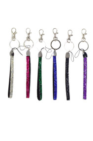 "Key Ring-Bling 5.5"" Asst."