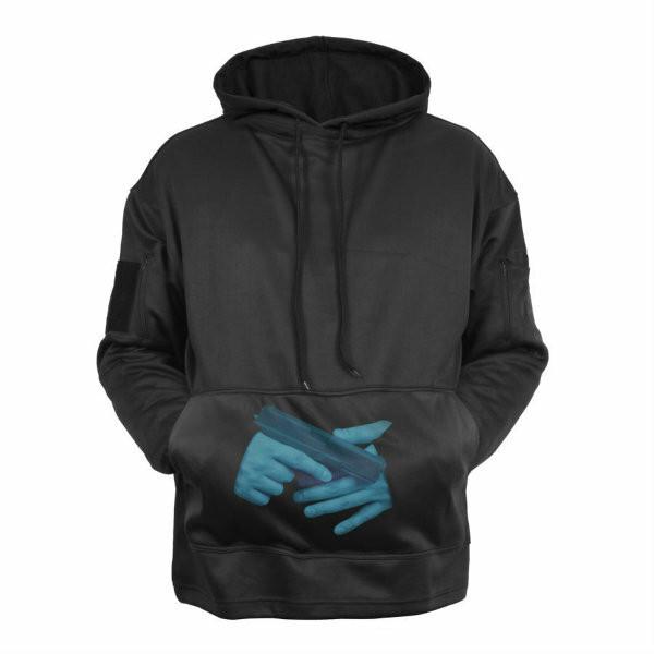 Concealed Carry Tactical Hoodie 2071 Black