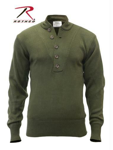 G.I. Style 5-Button Acrylic Sweater 6368 Olive Drab Rothco
