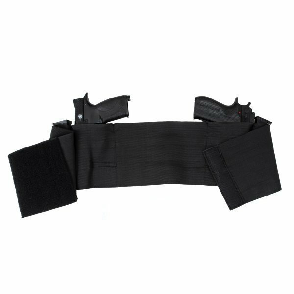 Ambidextrous Concealed Elastic Black Belly Band Holster armynavyoutdoors
