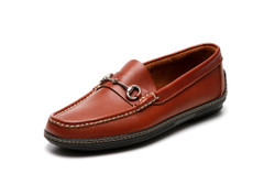 Men's handsewn Bit Driver Loafer, brown