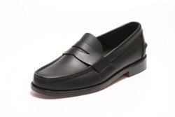 Handsewn Penny Loafer, with Black Leather Outsole