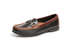 Women's Bit Comfort Loafer (Black-Brown Leather)