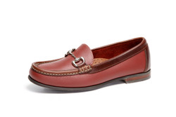 Women's Bit Comfort Loafer (Red-Brown Leather)