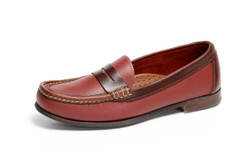 Women's Penny Comfort Loafer (Red-Brown Leather)