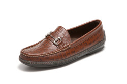 Men's handsewn Bit Driver in croco leather.