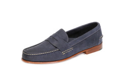 Men's Penny Loafer with Full Leather Outsole & Heel - angle view