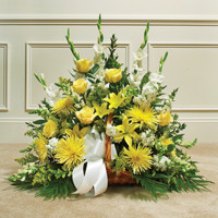 Yellow & white Mixed Fireside Basket