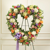 Multicolor Pastel Standing Open Heart