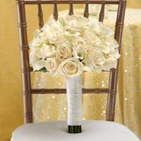 Romance Bundle - All White Bridal Bouquet