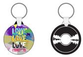 Love, Love, Love Record Keychain